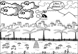 Los nubarrones pasan de nosotros... ¡Qué feo!